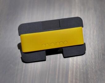 Minimo wallet | black & gold | slim, minimalist wallet, card holder, travel wallet