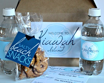 Custom Wedding Welcome Box Basic Package - Hotel Wedding Box - Destination Wedding Favors - Out of Town Guest Welcome Gift