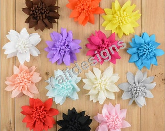 U Pick! 7CM 2.8'' inch 3D Chiffon  Flower For Girls Headband Accessories DIY Fabric Hat/ Shoes Accessories-Mixed Color-YTA60