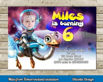 Miles from tomorrowland Invitation for Birthday Party with photo - Digital File