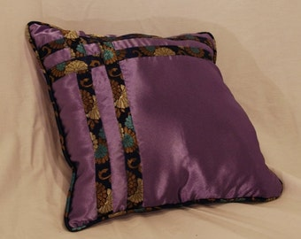 Purple Satin Pillow