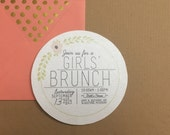 Birthday Brunch Invitations - Customizable - DIGITAL FILES ONLY