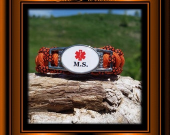 M.S. Medical Alert Bracelet Handmade in USA