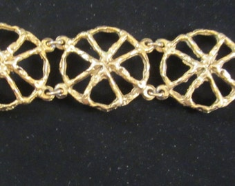 Vintage Bracelet Bold & Chunky Art Deco Style. It is for that woman who dares to be different! Circa 70s-80s. Fits a smaller wrist  nicely.