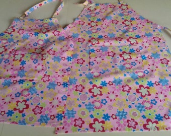Child's Handmade Apron With Adjustable Neck Strap and Pocket