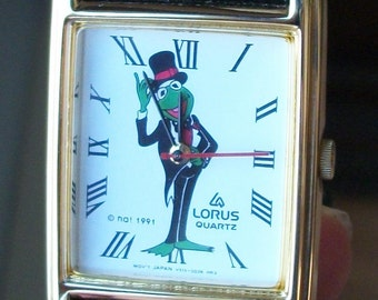 Retired Lorus Jim Henson Kermit the Frog Watch! New