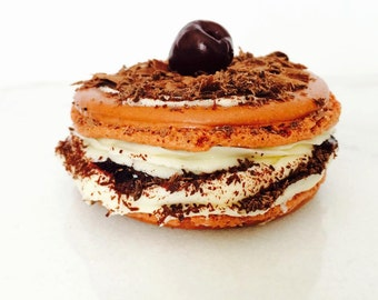 French macarons, 10 black forest macarons, wedding macarons, french confections, ottawa macarons, order macarons online, black forest