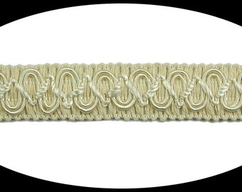 5/8 inches wide -- Made in Italy Black or Ivory Braided Cord Trim Craft Supplies Gimp Braid Trimming Sewing Notions BB070