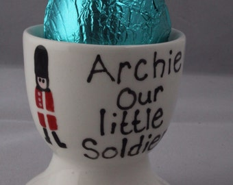 Guardsman Personalised Easter Egg Cup with Chocolate Egg Presented in a Gift Bag