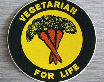 Vegetarian For Life Sticker Outdoor Bumper Stickers