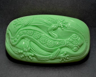 LIZARD SOAP BAR - Silicone mold - soap, soap bar silicone mould  plaster clay wax resin