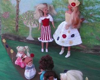 Crochet Fashion Doll Barbie & Family Pattern- #322 LOLLIPOP LANE MAGAZINE