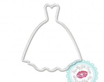 Wedding Dress Prom Dress Machine Embroidery Applique Design