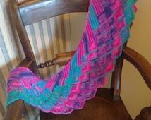 Tunisian Crochet Pattern - Shawlette or Scarf.