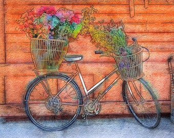 Special Delivery! Flowers for You!...A Fine Art Photo Watercolor/Illustration Print