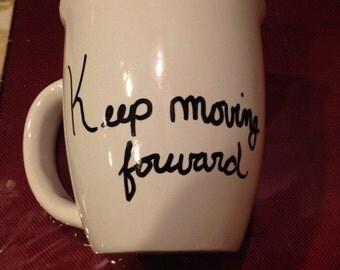 Keep moving forward disney quote mug