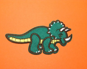 Iron on Sew on Patch:  Dinosaurs (green)