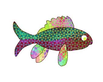 11x14 ColorFins Fish Print