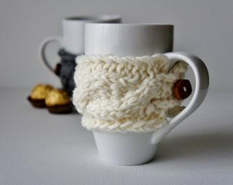 Coffee Cup Cozy, Tea Cup Cozy, Coffee Cup Cozie, Coffee Mug Cozies, Coffee Cup Sleeve, Knit Mug Cozy, Knit Cup Cozy