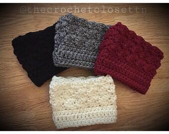 Handmade Boot Cuffs (1 pair) crochet boot cuffs | boot cuff