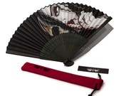 Death is Silent Gothic Decorative [ Hand Fan ] - by Denis Caron - Corvink Limited Edtion