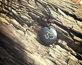 Wooden OM carved necklaces