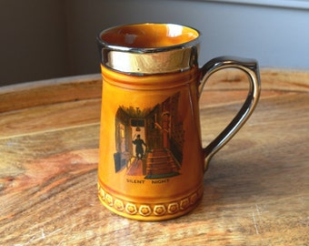 Lord Nelson Pottery England 3-70 stamped 108 Beer Tankard or Stein 'Silent Night'