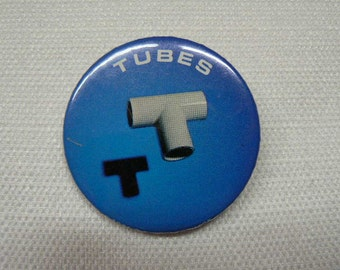 Vintage Early 1980s (1981) The Tube The Completion Backwards Principle Album Promotional Pin / Button