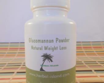Glucomannan Capsules - Konjac Root Powder - 1000mg Each Capsules