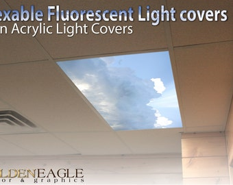 Flexible fluorescent light cover films skylight flexible fluorescent light cover films skylight ceiling office medical dental sky sunbeam blue gathering storm aloadofball Images