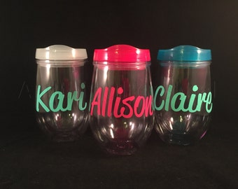 Personalized Cup, Name Cup, Personalized Gift, Bev2Go, Beach Cup, Bachelorette, Spring Break, Wine Tumbler, Party Cup, 21st Birthday
