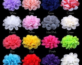 100pcs 11cm Chiffon Scalloped Flowers Fabric Flowers, Chiffon Flower Headband, Chiffon Flowers, DIY Headbands.