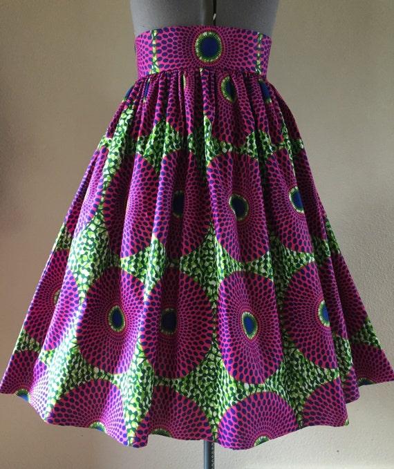 wax africain frais imprimer jupe taille haute coupe et. Black Bedroom Furniture Sets. Home Design Ideas