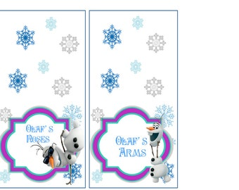 Frozen food cards- downloadable pdf file
