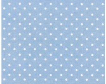 On Sale - Le Elephant - Baby Blue Pin Dots Fabric - Ellen Crimini-Trent Collection - Clothworks Fabric- Designer Fabric By the Half Yard