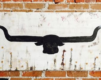 "Original mixed media art on canvas! ""Taurus"""