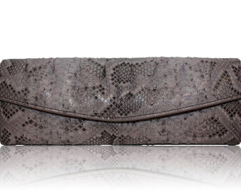 ELLE Clutch |  Ultra Luxe Sabbia Painted Python