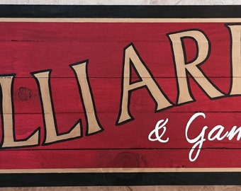 Billiards and Games Wall Hanging