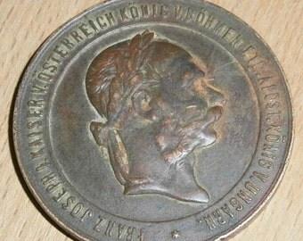 1873-Emperor-Franz-Joseph-I-Austria-War Campaign Medal,December 2, 1873