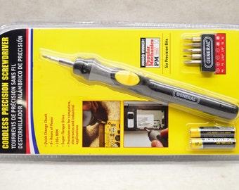 general no 500 cordless precision power screwdriver, 8 hour use, editor's choice