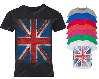 Vintage British Flag Youth T-shirt Union Jack Shirts