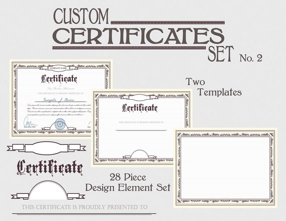 Certificate template set diy award certification diploma certificate template set diy award certification diploma document clipart images download printable graphic design clip art kit no 2 yadclub Choice Image