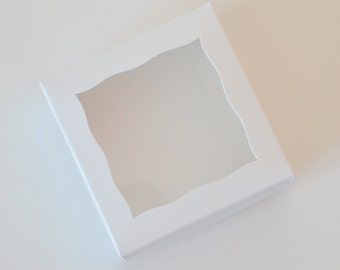 10 Small White Favor Boxes // Two Piece White Cookie Favor Boxes //  White Treat Boxes // White Gift Boxes