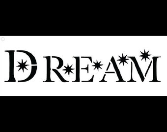 Dream-Word Stencil-Starry-Select Size-SKU: STCL667