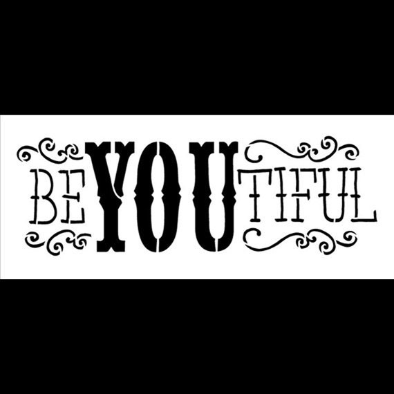 Be-YOU-Tiful - Word Stencil - Select Size - STCL651 - by StudioR12