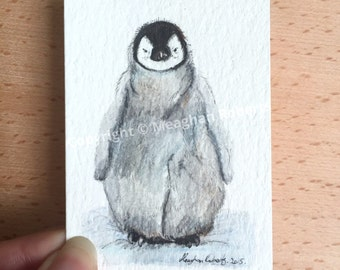 Penguin ACEO By Meaghan Roberts
