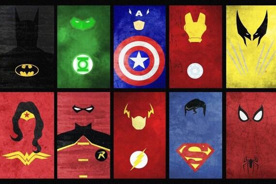 Items similar to Heroes silk screen fabric poster (36x24 ... Все Знаки Супергероев