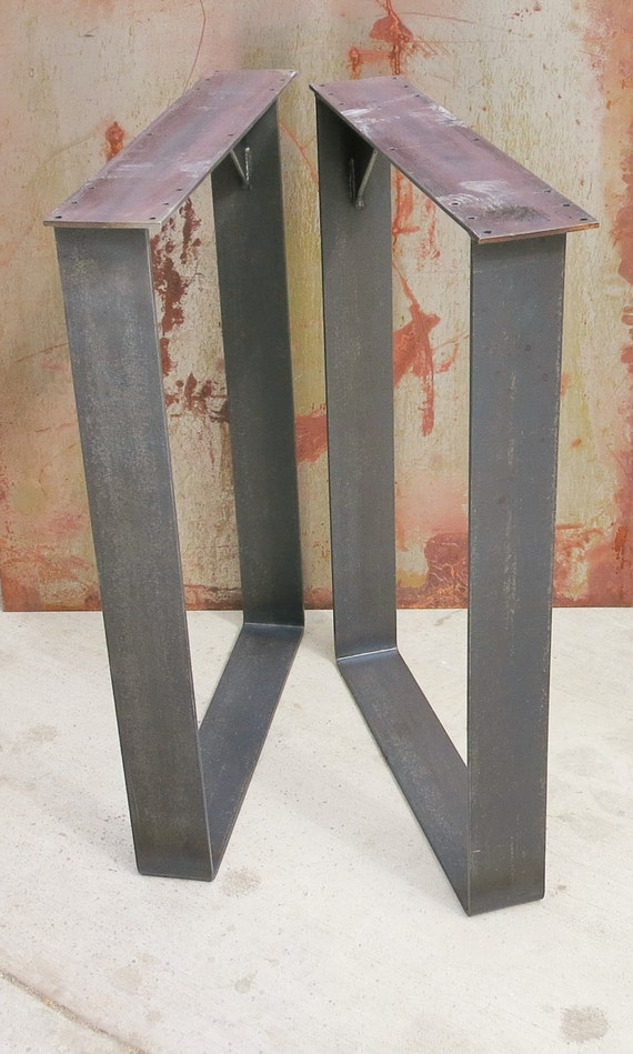 Metal Table Legs - Squared Thick Flat bar Squared