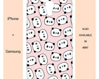 Cute panda iphone case,panda,samsung case,samsung galaxy s5,case,cute,pink,case,s6,girly,mint,pastel,animal,s4,5s,iphone 6,samsung galaxy s5