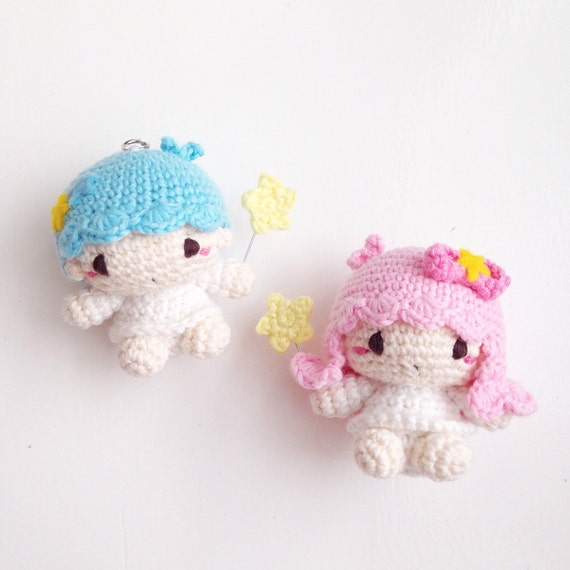 Little twin star amigurumi finished products